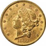 1869-S Liberty Head Double Eagle. MS-61 (PCGS).