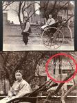 1900年代清末上海人力车与年青女士,背景是上海工部邮政局 (Local Post) 大楼.