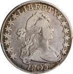 1803 Draped Bust Half Dollar. Large 3. Fine-12 (PCGS).