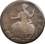 1771 Contemporary Counterfeit English Halfpenny. George III Type of 1770-1775. Double Reverse. Very