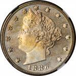 1886 Liberty Head Nickel. MS-64 (NGC).