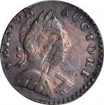 1787 Vermont Copper. RR-12, Bressett 11-K, W-2110. Rarity-4. Bust Right. AU-50.