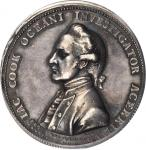 Undated (1784) Captain James Cook Memorial Medal. Silver. 42mm. By L. Pingo. Betts-553, BHM-258, Eim