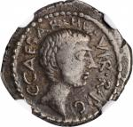 OCTAVIAN. AR Denarius, Military mint traveling with Octavian in Italy, 41 B.C. NGC VF.
