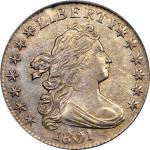 1801 Draped Bust Dime. JR-1. Rarity-4. AU-58 (PCGS).