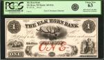 Elk Horn, Wisconsin. Elk Horn Bank. 18xx. $1. PCGS Currency Choice New 63.