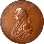 1809 James Madison Indian Peace Medal. First Size. Bronzed Copper. 76 mm. By John Reich. Julian IP-5