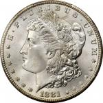 1881-CC Morgan Silver Dollar. MS-67+ (PCGS).