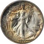 1917-D Walking Liberty Half Dollar. Obverse Mintmark. MS-66 (PCGS).