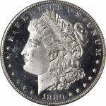 1880-S Morgan Silver Dollar. MS-66 DMPL (PCGS).