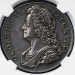GREAT BRITAIN George II ジョージ2世(1727~60) Crown 1739 NGC-MS63 トーン UNC