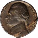 1979 Jefferson Nickel--Struck on a Bronze Cent Planchet--MS-63 BN (PCGS).