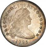 1795 Draped Bust Silver Dollar. Bowers Borckardt-51, Bolender-14. Rarity-2. Off-Center Bust. Mint St