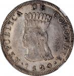COLOMBIA. Cundinamarca. 8 Reales, 1820-JF. NGC AU-55.