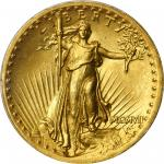 MCMVII (1907) Saint-Gaudens Double Eagle. High Relief. Wire Rim. MS-64 (PCGS).
