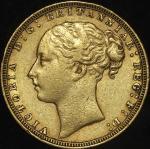 GREAT BRITAIN Victoria ヴィクトリア(1837~1901) Sovereign 1871 VF