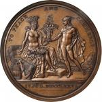 1876 United States Diplomatic Medal. Bronze. 68 mm. Julian CM-15. MS-66BN (NGC).