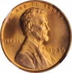 1936 Lincoln Cent. FS-103. Doubled Die Reverse. MS-66 RD (NGC).