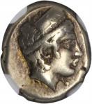 LESBOS. Mytilene. EL Hekte (2.55 gms), ca. 412-378 B.C. NGC VF, Strike: 5/5 Surface: 3/5.