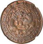 己酉大清铜币二十文。
