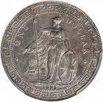 1895-B年英国贸易银元站洋壹圆银币。孟买铸币厂。 GREAT BRITAIN. Trade Dollar, 1895-B. Bombay Mint. Victoria. PCGS Genuine-