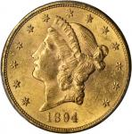 1894-S Liberty Head Double Eagle. MS-62 (PCGS).