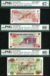 British Armed Forces, a group of specimen 5, 10 and 50 Pence, ND (1972), zero serial numbers (Pick M