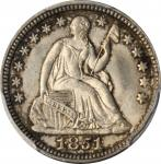 1851 Liberty Seated Half Dime. MS-66 (PCGS).