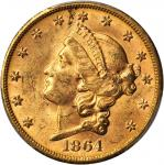 1864-S Liberty Head Double Eagle. MS-61 (PCGS).