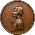 """1801"" (circa 1861-1886) Thomas Jefferson Indian Peace Medal. Bronze. Second Size. Original Dies. Ju"