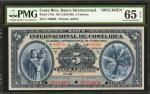 COSTA RICA. Banco Internacional de Costa Rica. 5 Colones, ND. P-174s. Specimen. PMG Gem Uncirculated