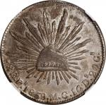 MEXICO. 8 Reales, 1859-Pi MC. San Luis Potosi Mint. NGC MS-61.