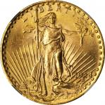 1924 Saint-Gaudens Double Eagle. MS-65 (NGC).