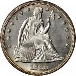 1868 Liberty Seated Silver Dollar. MS-63 (PCGS). OGH--First Generation.
