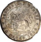 ITALY. Venice. 5 Lire, 1848-V. NGC MS-65.