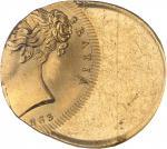 GRANDE-BRETAGNE Victoria (1837-1901). Souverain, frappe décentrée 50 % 1863, Londres.