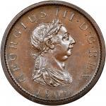 1808年乔治三世铜币 NGC MS 65