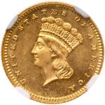 1880 $1 Gold Indian. NGC MS68