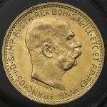 AUSTRIA Franz Josef I フランツ・ヨーゼフ1世(1848~1916) 10Corona 1911 AU~UNC