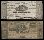 Pair of Canadian Obsolete Notes and Engraved Draft. 1) Cobourg, Ontario, Board of Police 10 Shillin