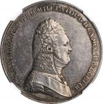 RUSSIA. Silver Novodel Ruble, 180(6). Alexander I. NGC AU-55.