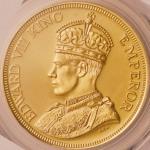 オーストラリア (Australia) エドワード8世戴冠像 ファンタジーメダル 1クラウン金メダル 1937年 KMXM17 / Edward VIII 1 Crown Gold Fantasy M