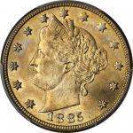 1885 Liberty Nickel. MS-66 (PCGS).