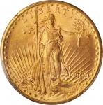 1909-S Saint-Gaudens Double Eagle. MS-65 (PCGS).