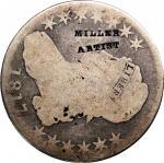 MILLER / ARTIST on an 1817 Capped Bust half dollar. Brunk-Unlisted, Rulau-Unlisted. Host coin Good.