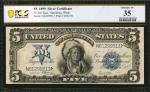 Fr. 281. 1899 $5 Silver Certificate. PCGS Banknote Choice Very Fine 35.