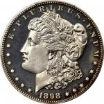 1898 Morgan Silver Dollar. Proof-64 Cameo (PCGS). CAC.