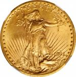 1911-D Saint-Gaudens Double Eagle. MS-64 (NGC).