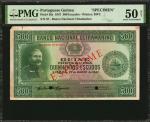 PORTUGUESE GUINEA. Banco Nacional Ultramarino. 500 Escudos, 1947. P-36s. Specimen. PMG About Uncircu