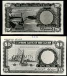 Reserve Bank of New Zealand, a set of specimen from the 1967 issue, including $1, $2, $5, $10, $20,